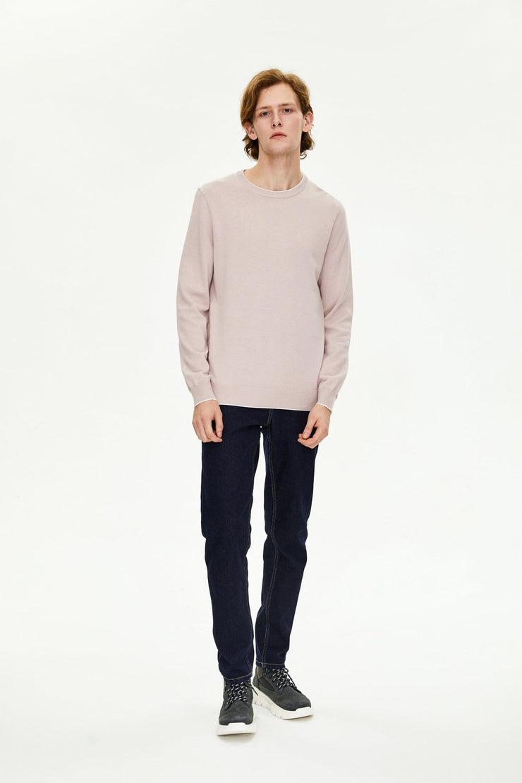 Men's Solid Knitted T-shirt - Urban Revivo Fashion