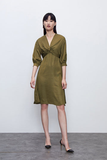 LIGHT RIPE ELEGANT DRESS - Urban Revivo Fashion