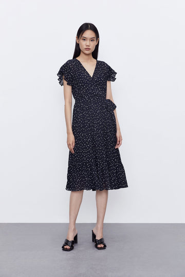 LIGHTLY COOKED POLKA DOT DRESS - Urban Revivo Fashion