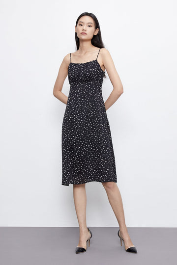 Polka Dot Spaghetti Strap Dress - Urban Revivo Fashion