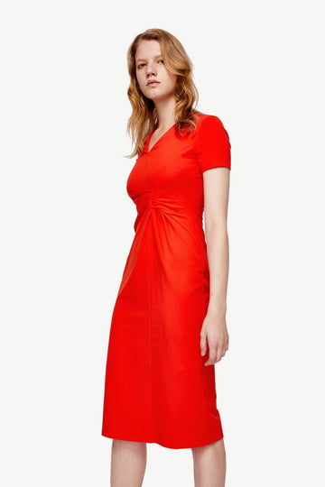 V-NECK SPLIT MIDI DRESS - Urban Revivo Fashion