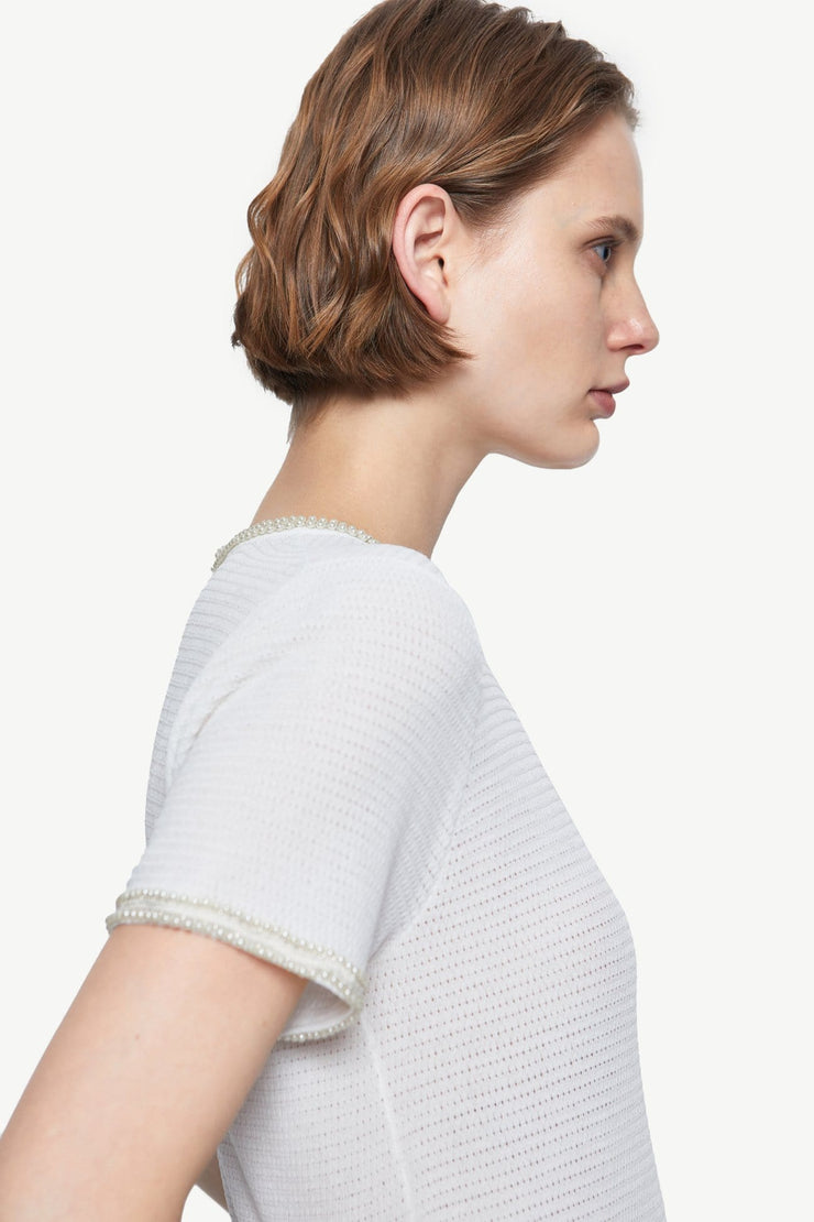 ROUND NECK KNITTED T-SHIRT - Urban Revivo Fashion