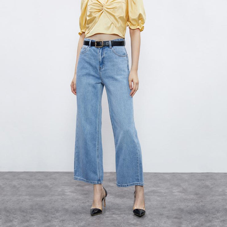 Loose Straight Barrel Jeans - Urban Revivo Fashion