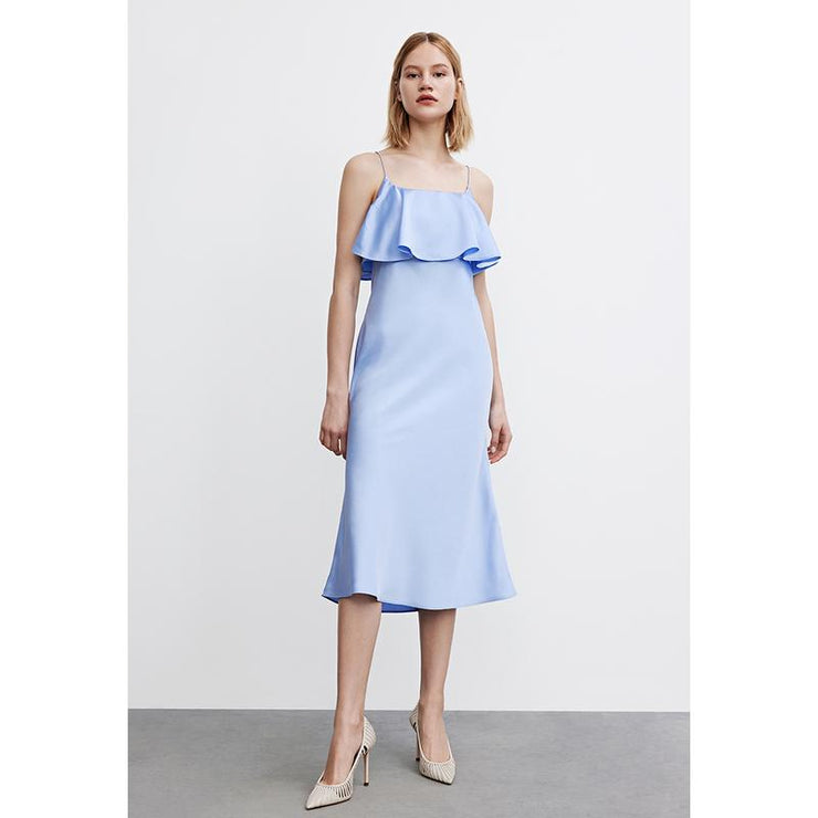 Elegant Falbala Mermaid Midi Dress - Urban Revivo Fashion