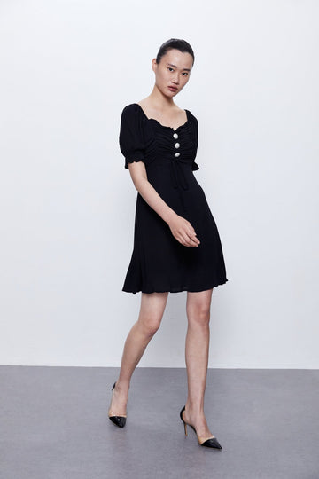 THE LANTERN SLEEVE DRESS - Urban Revivo Fashion