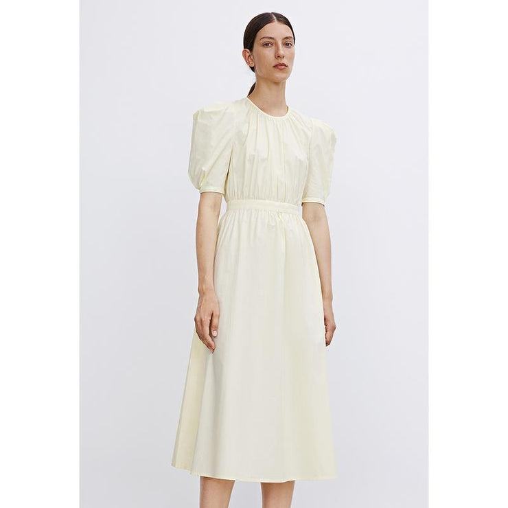 Puff Sleeve High-waist Midi Dress - Urban Revivo Fashion