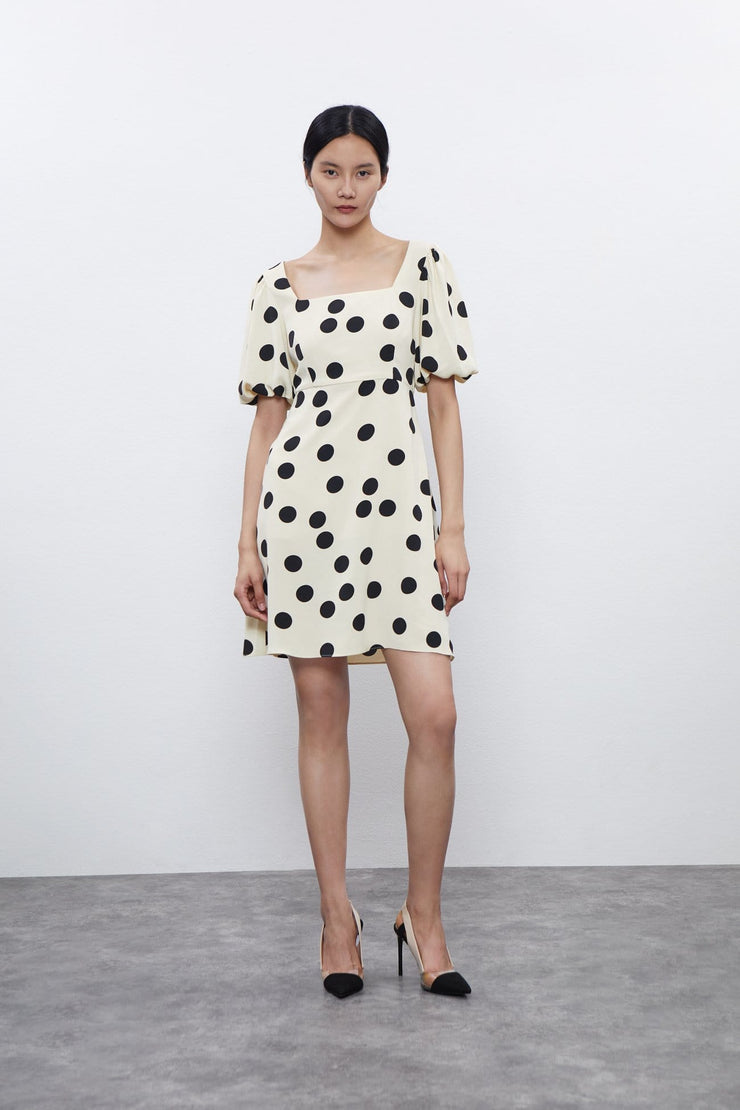 Retro Polka Dot One Piece Dress - Urban Revivo Fashion