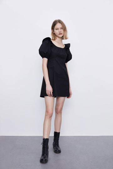 French Style Square Neck One Piece Dress - Urban Revivo Fashion