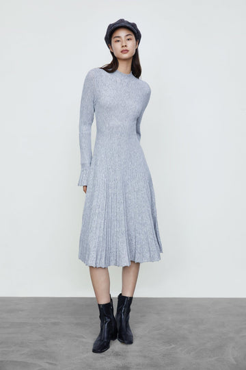 ROUND NECK KNITTED DRESS - Urban Revivo Fashion