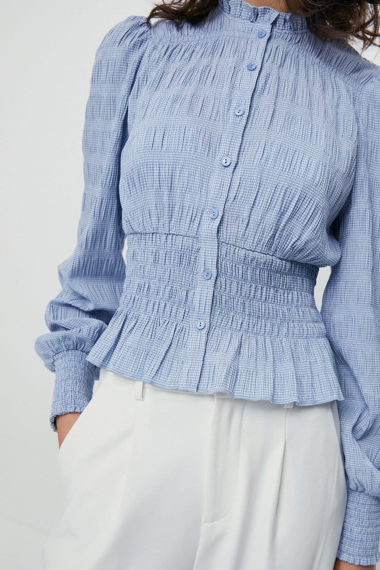 RUFFLE COLLAR SHIRT - Urban Revivo Fashion