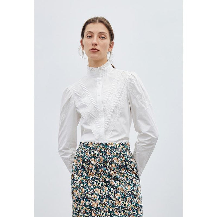 JACQUARD STAND COLLAR SHIRT - Urban Revivo Fashion