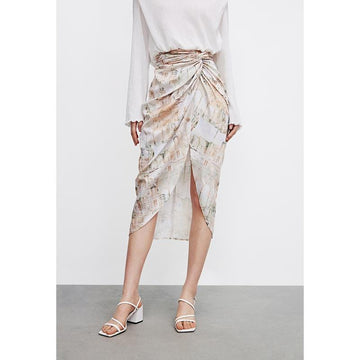 Draped H-shaped Half Skirt - Urban Revivo Fashion