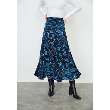 FLORAL PRINT MAXI SKIRT - Urban Revivo Fashion