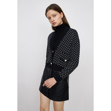 WOMEN'S HOUNDSTOOTH V-NECK  CARDIGAN - Urban Revivo Fashion