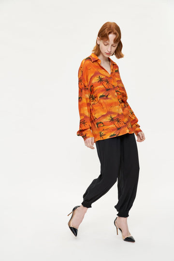 PRINTING LONG SLEEVE SHIRT - Urban Revivo Fashion