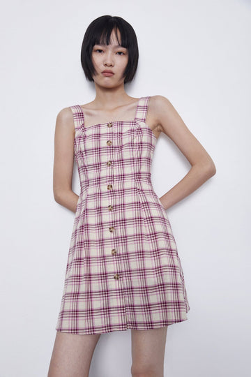 PLAID DRESS - Urban Revivo Fashion
