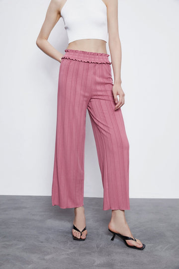 TRENDY WIDE-LEG PANTS - Urban Revivo Fashion