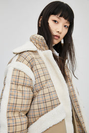 LOOSE COTTON-PADDED JACKET COAT - Urban Revivo Fashion