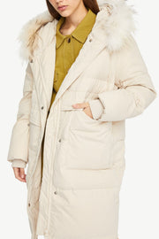 FUR HAT COLLAR DOWN JACKET - Urban Revivo Fashion