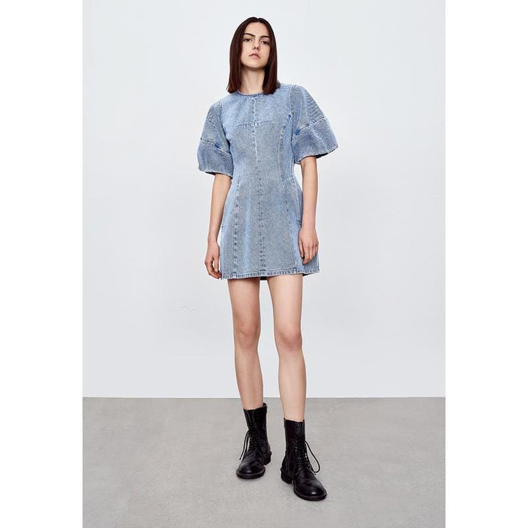 Cotton Denim One Piece Dress - Urban Revivo Fashion