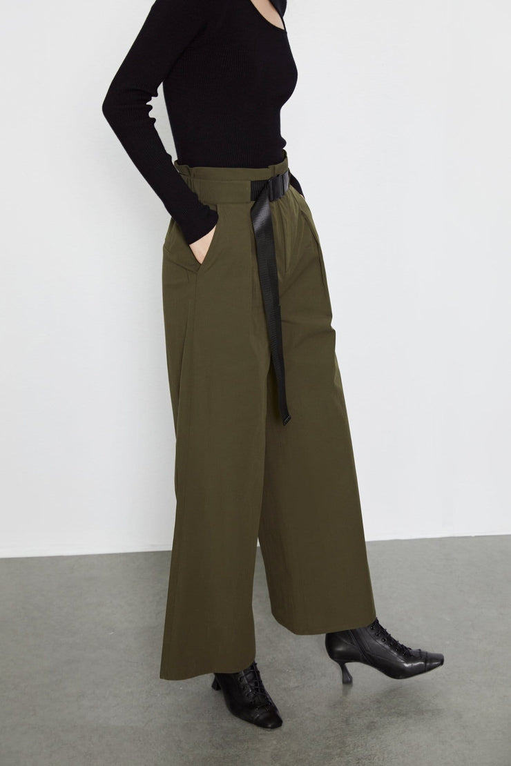 Wide Leg Casual Pants - Urban Revivo Fashion