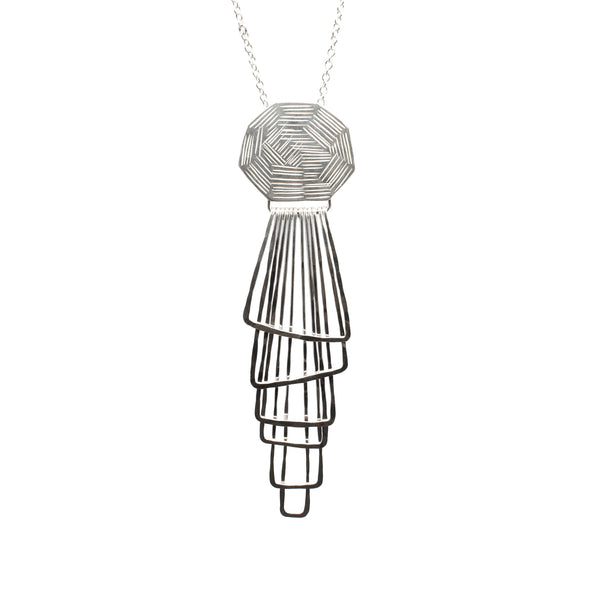 Jera Lodge, Textured Deco Pendant