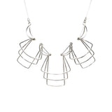 Jera Lodge, Triple Layered Deco Necklace & Duo Earrings Set