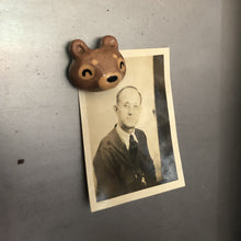 Load image into Gallery viewer, Brown Bear Porcelain Magnet