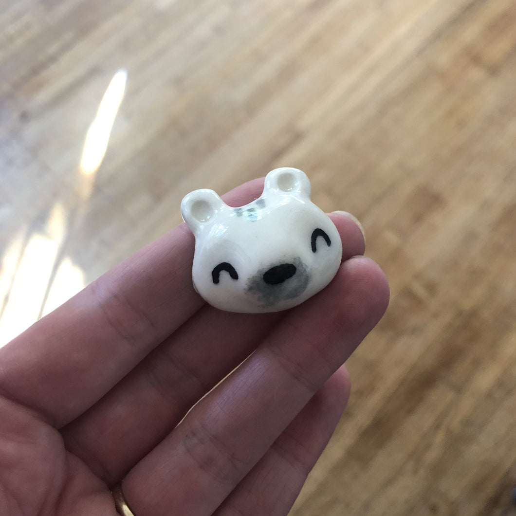 Polar Bear Porcelain Magnet