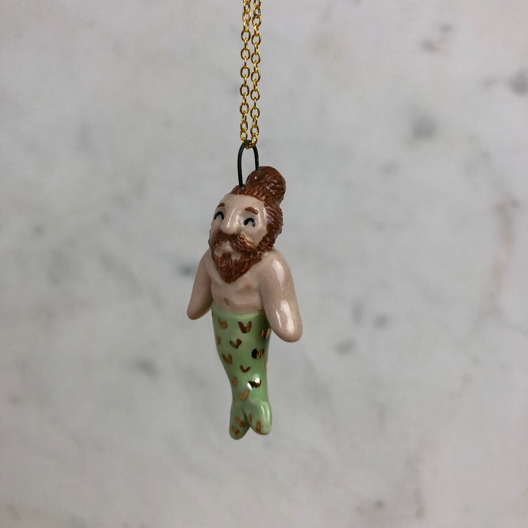 Merman Pendent Necklace