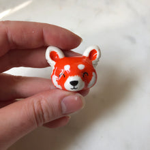 Load image into Gallery viewer, Red Panda Porcelain Magnet