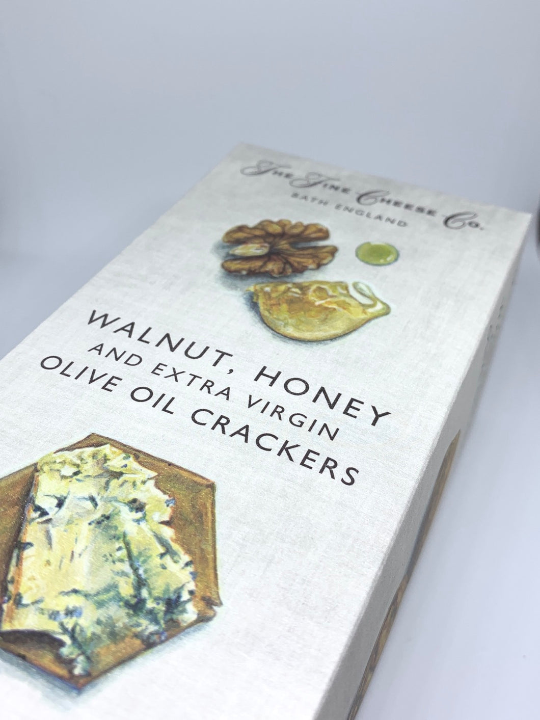 The Fine Cheese Co. Walnut, Honey & Extra Virgin Olive Oil Crackers 125g