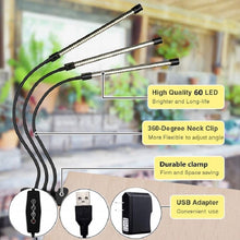 Load image into Gallery viewer, 30W LED Natural Sun-Like Grow Lights DC 5V USB with Timer.