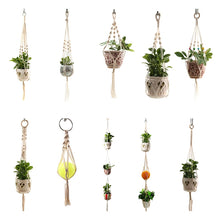 Load image into Gallery viewer, Macramé Hanging Plant Holders 10 different designs