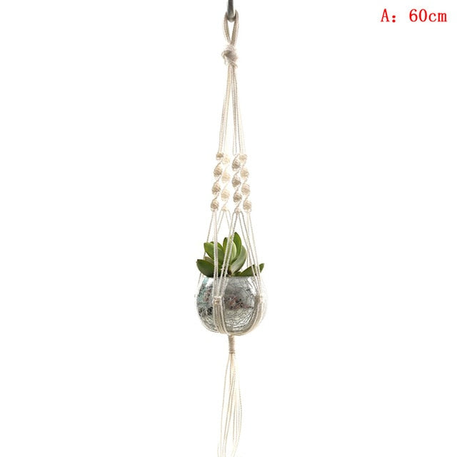 Macramé Hanging Plant Holders 10 different designs