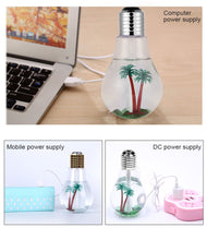 Load image into Gallery viewer, Light bulb design Humidifier / Oil Diffuser 400ML plus bonus 10 cotton filters