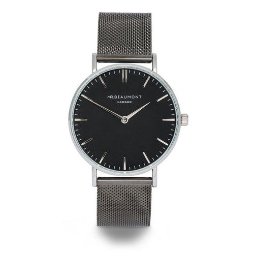 Mens Personalised Watch Mr Beaumont Gun Metal - Wear We Met
