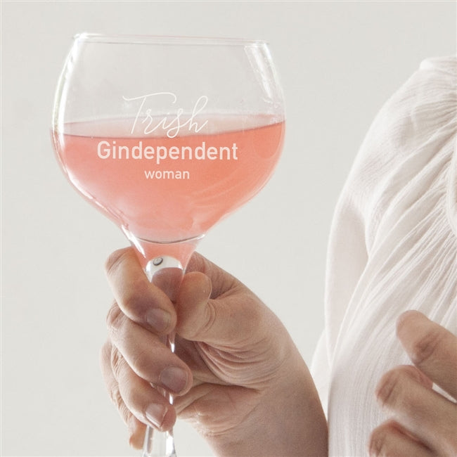 Gin dependent Woman Gin Glass