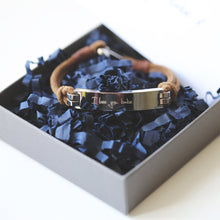 Load image into Gallery viewer, Men's Leather Tan Bracelet - Wear We Met