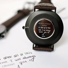 Load image into Gallery viewer, Own Handwriting Mr Beaumont Vegan Watch Black Face - Wear We Met