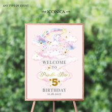 Load image into Gallery viewer, Unicorn Birthday Invitation | Unicorn Birthday Decorations | Unicorn Birthday Card | Any age | Unicorn Watercolor Collection