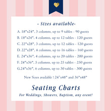Load image into Gallery viewer, Wedding Seating Chart Board Elegant Seaweed Green Lace Seating Chart - Guest List Chart Seating Chart Template Or Printed Any Color Scw0007