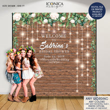 Load image into Gallery viewer, Graduation Party backdrop, Retirement, Prom Party Decorations, Rustic and Greenery backdrop, photo backdrop, Printed Or Digital File