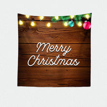 Load image into Gallery viewer, Holiday Decor,Holiday Photo Backdrop,Christmas Party vinyl backdrop Rustic Backdrop Happy Holidays Banner,Printed or Printable File BHO0031