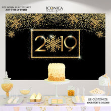 Load image into Gallery viewer, New Year's Eve Party Supplies & Decorations,New Year's Eve party Photo Booth Backdrop,New Year's Eve Decorations,NYE PARTY Decor BHO0038