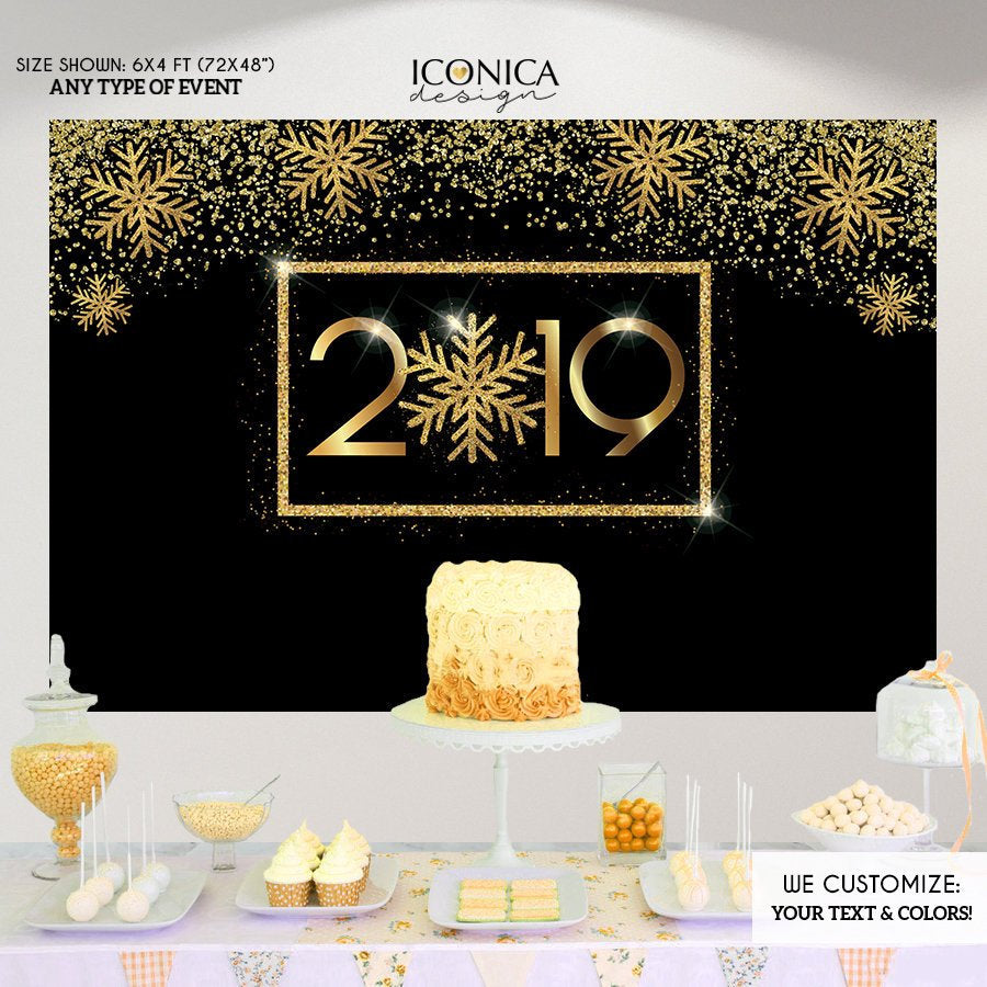 New Year's Eve Party Supplies & Decorations,New Year's Eve party Photo Booth Backdrop,New Year's Eve Decorations,NYE PARTY Decor BHO0038