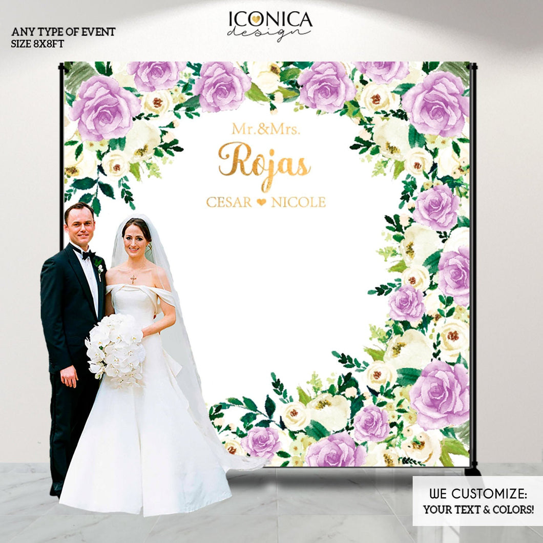 Engagement Party decorations, wedding backdrop, engagement backdrop,Personalized Greenery Wedding Decor,Floral Photo backdrop,BWD0035