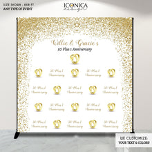 Load image into Gallery viewer, 50th Wedding Anniversary Photo Backdrop, 50th Anniversary Party Decor,We still DO,Golden anniversary celebration,Printed or Printable File