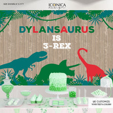 Load image into Gallery viewer, Dinosaur Backdrop,Dinasour Birthday Party,Dinomite Party Banner,Dinosaur Boysor girls Birthday Party Decor,Printed Or Printable File Bbd0050