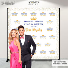Load image into Gallery viewer, Virtual Homecoming Party Photo Backdrop, School Homecoming Photo Booth, Homecoming Dance Decor, HOCO Dance, Graduation Party Backdrop, Prom